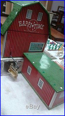 Marx Happi Time Tin Farm with Pig Sheds Lots of accessories and Animals