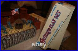 Marx Heritage Fort Apache # 79 59093C, 99 % complete and very nice in box