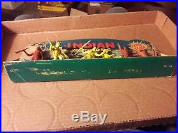 Marx Indian Warriors playset store display box plastic 4 inch 1950s rare vintage