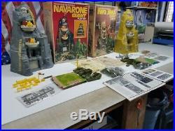 Marx Iwo Jima & Navarone Mountain Sets 2 Full Sets In Original Boxes