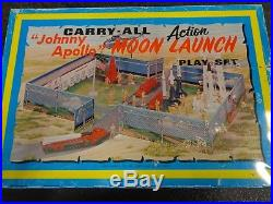 Marx Johnny Apollo Moon Launch Cape Kennedy Carry-All Play Set Metal Case 1968