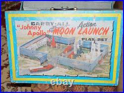 Marx Johnny Apollo Moon Launch Play Set