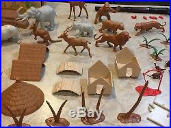 Marx Jungle Animal Play Set Box#3714