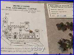 Marx Knights & Castle Miniature Play Set With Box