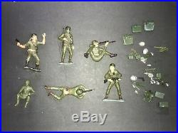 Marx Large Scale Military Playset with Jeep Cannon Figures