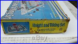 Marx Medieval Knight and Viking Castle Set in Original Box