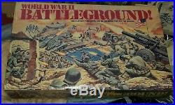 Marx/ Mego World War II Battleground Play Set near complete rare with extras