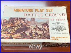 Marx Miniature Battle Ground Play Set