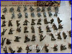 Marx Miniature Battleground Play Set & Box