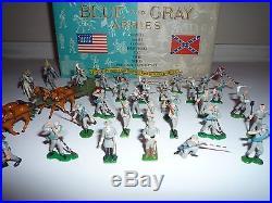 Marx Miniature Blue And Gray Armies Play Set