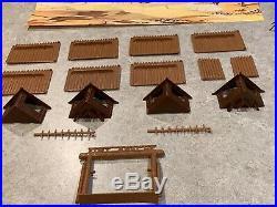 Marx Miniature Fort Apache Play Set And Box
