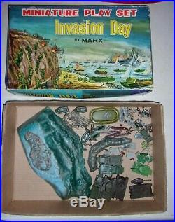 Marx Miniature INVASION BATTLE GROUND IWO JIMA Play Set DESERT FOX IN Box
