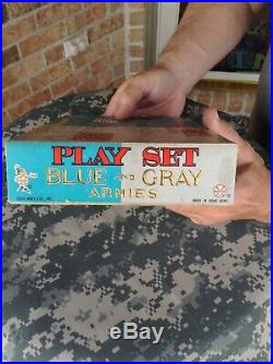 Marx Miniature Play Set Civil War Blue And Gray Armies Must See