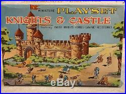 Marx Miniature Play Set Knights & Castle With Box