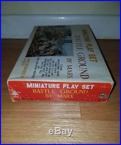 Marx Miniature Playset Battle Ground RARE sealed bags military soldiers MINT