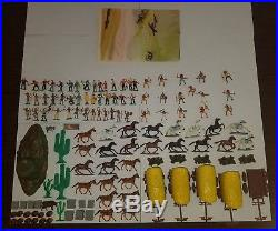 Marx Miniature Playset Covered Wagon Attack EXTREMELY RARE MINT war soldiers toy