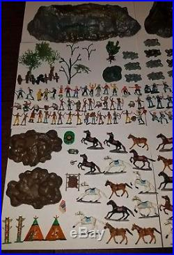 Marx Miniature Playset Custer's Last Stand EXTREMELY RARE MINT war soldiers toys