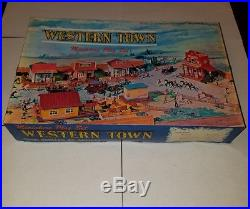 Marx Miniature Playset Western Town EXTREMELY RARE MINT war cowboys toys