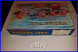 Marx Miniature Playset Western Town EXTREMELY RARE MINT war cowboys toys
