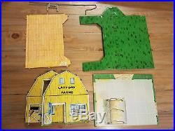 Marx Modern Farm Play Set Boxed Playset with Accessories, Animals