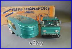 Marx Motor City Auto Transport in box with Truck, Corvette Car in Box