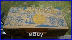 Marx ORIGINAL 1956 RIN-TIN-TIN FORT APACHE FORT Playset with Tin Litho Bldg