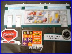 Marx Old Toy Store Stock Super Service Tin Litho Gas Service Station Mib Rare