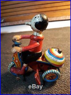 Marx Olive Oyl Mechanical Tricycle 1950s