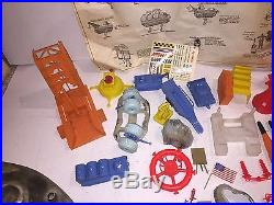 Marx Operation Moon Base 4654 1960's Space Toy Play Set Lots Of Parts