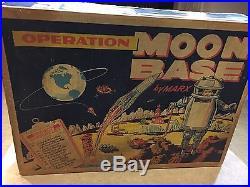 Marx Operation Moon Base Play Set With Box