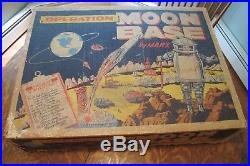 Marx Operation Moonbase Play Set Almost complete in Box