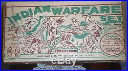 Marx Orig. RARE Indian Warfare play set #4778 Excellent to NM
