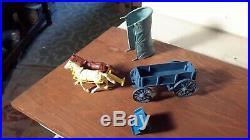 Marx Original 1959 BLUE Wagon withBlue Top Wagon Train Ringo Gunsmoke Western