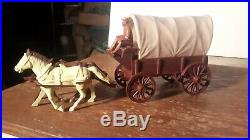 Marx Original BROWN WAGON withConestoga top FORT APACHE CUSTER Western PLAYSET