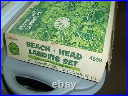 Marx Original Beach Head Landing Set #4638 With Box 1963