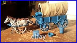 Marx Original Blue WAGON withDARK TAN TOP WAGON TRAIN GUNSMOKE Western PLAYSET