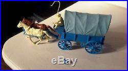 Marx Original Covered Wagon Train Ringo Gunsmoke with BLUE TOP Playset plastic