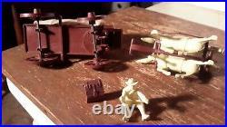 Marx Original RED-BROWN WAGON withTAN TOP WAGON TRAIN GUNSMOKE Western PLAYSET