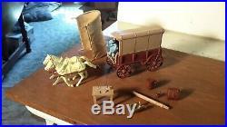 Marx Original Supply & Conestoga Wagon GIANT Fort Apache Western playset