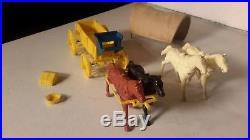 Marx Original Yellow Covered Wagon Train Ringo Gunsmoke Playset. Plastic