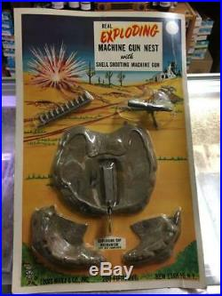 Marx P-1300 Real Exploding Machine Gun Nest With Shooting Machine Gun Mint In Pa