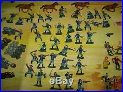 Marx PLAY SET MINI Custer's Last Stand 1960'S Indian Cavalry, BOX, 96 FIGURES +