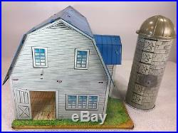 Marx Pedigree Happi Time Dairy Farm Blue Roof withsilo Canada only release Tin