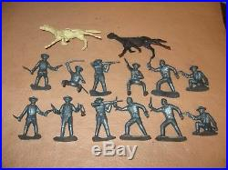 Marx Play Set Rin Tin Tin Fort Apache 94 Pieces In Good Box