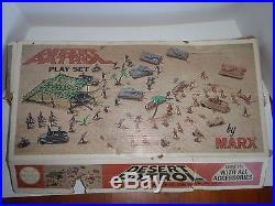 Marx Play set Desert Patrol similar to Battleground