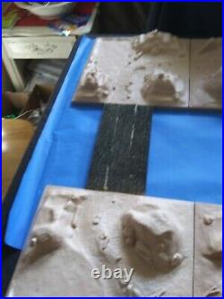 Marx Play set Diorama, Eight Plates Unpainted
