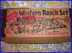 Marx Playset Western Ranch Playset With Instruction Sheet