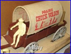 Marx Prairie Chuck Wagon 137 In Box Complete Vintage 1960's Plastic Playset