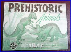 Marx Prehistoric Dinosaur Playset #3389 Series 500 Brown Box-WOW