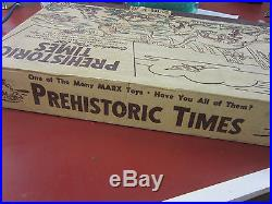 Marx Prehistoric Dinosaur Playset #3390 THE ORIGINAL PREHISTORIC TIMES